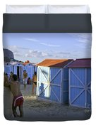Fun At Mondello Beach Duvet Cover