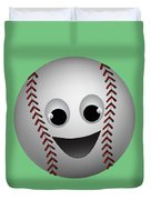 Fun Baseball Character Duvet Cover by MM Anderson