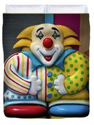 Fun House Clown Point Pleasant Nj Boardwalk Duvet Cover