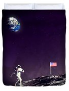 Fun On The Moon Duvet Cover