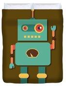 Fun Retro Robot Duvet Cover