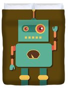 Fun Retro Robot Duvet Cover