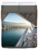 Funchal By The Ship Duvet Cover
