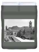 Funeral Procession In Bethlehem During 1934 Duvet Cover