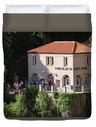 Funicular De Sant Joan Monserratt Duvet Cover