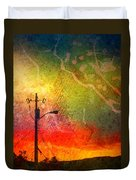 Funky Sunset Duvet Cover