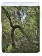 Funky Tree On Trail In Peters Canyon Duvet Cover