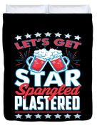 Funny Alcohol Fireworks Fourth July Gift 4th July Independence Day Duvet Cover