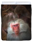 Funny Baboon Duvet Cover