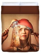 Funny Creative Cooking Pinup Girl Duvet Cover