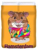 Funny Design Illustration Puns Hamsterdam The Wire Duvet Cover