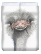 Funny Face Duvet Cover by Phyllis Howard