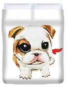 Funny Puppy Hand Painted Watercolor  Duvet Cover