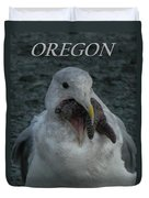 Funny Seagull With Starfish Duvet Cover