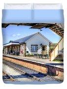 Furnace Sidings Railway Station Duvet Cover