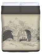 Furness Abbey East  29 August 1836 By Edward Lear  1836 Duvet Cover