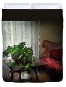 Furniture - Plant - Ivy In A Window  Duvet Cover by Mike Savad