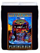 50th Anniversary Further Bus Tour Duvet Cover