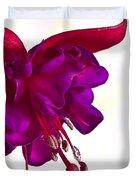 Fuschia Blossom Macro  Duvet Cover