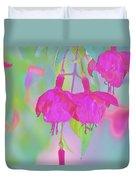 Fuchsia Flower Abstract Duvet Cover