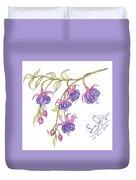 Fuschia Flowers Duvet Cover
