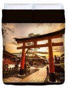 Fushimi Inari Taisha Shrine In Kyoto Duvet Cover