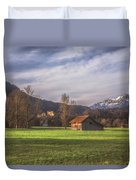 Fussen Mountain Scene Duvet Cover
