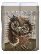 Fuzzy Owl Duvet Cover
