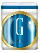 G For Golf Duvet Cover