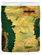 Gabon, Angola And Congo Duvet Cover