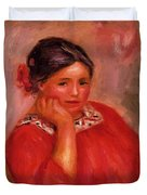 Gabrielle In A Red Blouse 1896 Duvet Cover