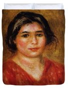 Gabrielle In A Red Blouse 1913 Duvet Cover