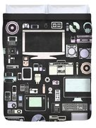 Gadgets Icon Duvet Cover by Setsiri Silapasuwanchai