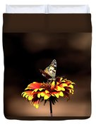 Gaillardia And Butterfly Duvet Cover