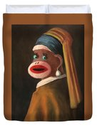 Gal With A Pearl Earring Duvet Cover