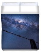 Galactic Kiwi On A Barbed Wire Duvet Cover