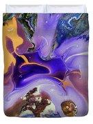 Galactic Portal. Abstract Fluid Acrylic Pour Duvet Cover