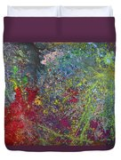 Galactic Spring_by Aatmica Duvet Cover