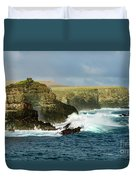 Cliffs At Suarez Point, Espanola Island Of The Galapagos Islands Duvet Cover