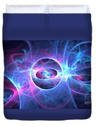 Galaxy Atoms Duvet Cover