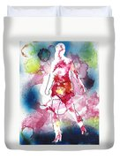 Galaxy Girl Duvet Cover