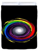 Galaxy In Chakra Colors Duvet Cover