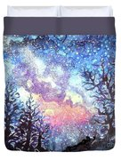 Galaxy Spring Night Watercolor Duvet Cover