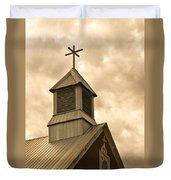 Galisteo Church, New Mexico Duvet Cover
