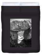Gallery Entrance At Creevykeel Court Cairn Ireland Duvet Cover