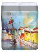 Gallion In Vila Do Conde Duvet Cover