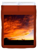 Gallo Peak Fiery Skies  Duvet Cover