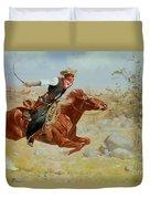 Galloping Horseman Duvet Cover