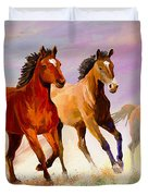Galloping Horses Duvet Cover