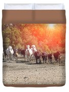 Galloping In Camargue Duvet Cover